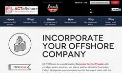 Screenshot of offshore company