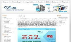 Screenshot of website design company in Bangladesh