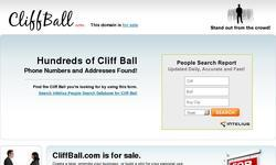 Screenshot of Cliff's Homepage