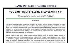 Screenshot of RAMBLING BLOKE PARODY LETTER