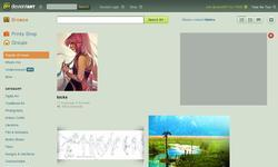 Screenshot of deviantart