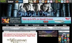 Screenshot of MuggleNet