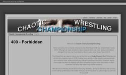 Screenshot of Chaotic Championship Wrestling