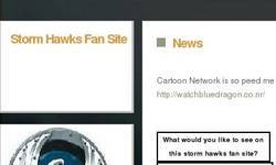 Screenshot of Storm Hawks Fan Site