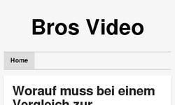 Screenshot of bros video