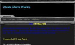 Screenshot of United Wrestling Alliance