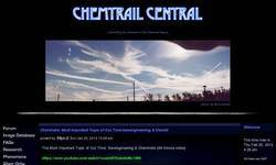 Screenshot of Chemtrail Central