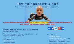 Screenshot of How to conceive boy