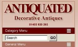 Screenshot of Decorative Antiques - Decorative Antique Furniture - Painted Furniture