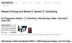 Screenshot of Howes-IT-Going Steven C. Howes I.T. Consulting