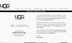 Screenshot of uggs canada