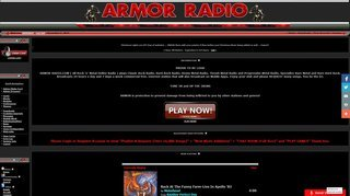 Screenshot of ARMOR-RADIO.COM