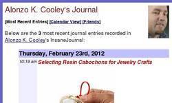 Screenshot of resin cabochons