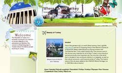 Screenshot of travel blog about Turkey