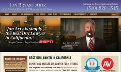 Screenshot of Los Angeles criminal attorney