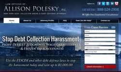 Screenshot of debt collector New York