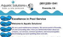 Screenshot of pool service riverside
