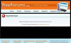 Screenshot of General Forum!