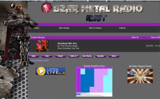 Screenshot of Bear Metal Radio