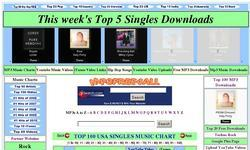 Screenshot of Mp3free4all's music charts and free mp3 music downloads