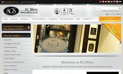 Screenshot of AC Silver - Antique silver & diamond jewellery