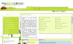 Screenshot of My Green Corner Web Directory
