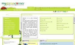 Screenshot of My Green Corner Web Directory