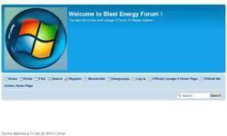 Screenshot of Blast Energy Forum