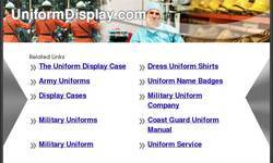 Screenshot of UniformDisplay.com - The Uniform Display Case