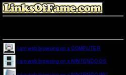 Screenshot of Links of Fame