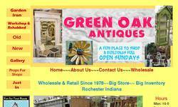 Screenshot of green oak antiques