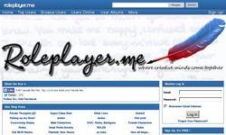 Screenshot of RolePlayer.me | Online Role Playing Community