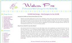 Screenshot of WahmPro - Professional Website Design for the WAHM