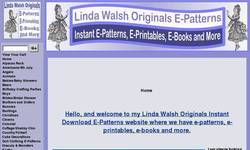 Screenshot of Linda Walsh Originals E-Patterns