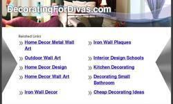 Screenshot of Decorating for Divas Metal Wall Words