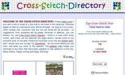 Screenshot of The Cross-Stitch-Directory
