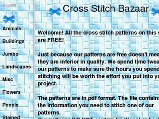 Screenshot of Cross Stitch Bazaar