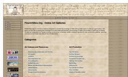 Screenshot of Fine Art Sites