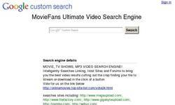 Screenshot of MovieFans Ultimate Video Search Engine