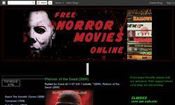 Screenshot of Horror Movies Blog