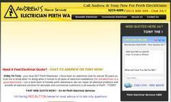 Screenshot of http://perthelectricalservices.com.au/