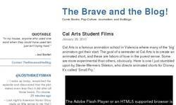 Screenshot of The Brave and the Blog