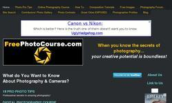 Screenshot of Free Digital Photography Tips, Lessons, Wallpapers & more