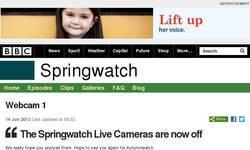Screenshot of Springwatch