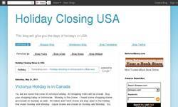 Screenshot of Holiday Closing in USA