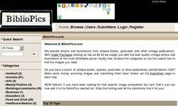 Screenshot of BiblioPics