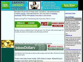 Screenshot of Many ways to earn online.