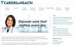 Screenshot of careers in health