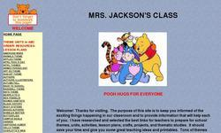 Screenshot of Mrs. Jackson's Class Website