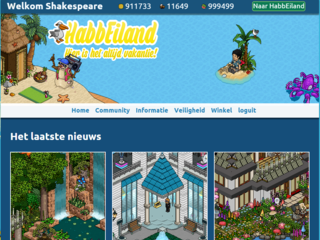 Screenshot of @HabbEiland, Binnenkort online!